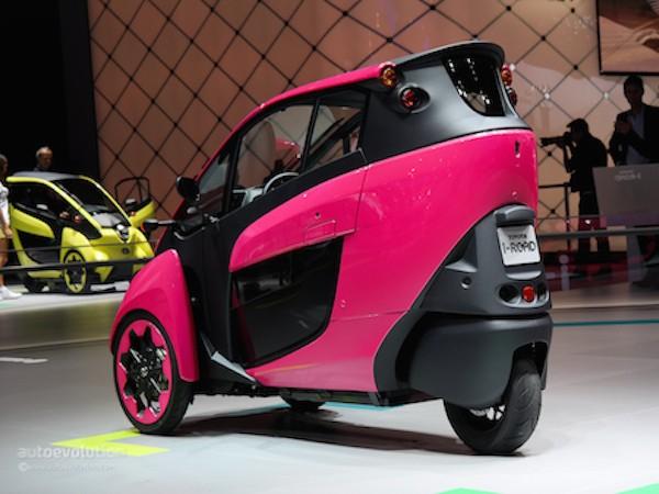 Toyota i-Road hồng rực ấn tượng tại triển lãm xe Paris ảnh 3