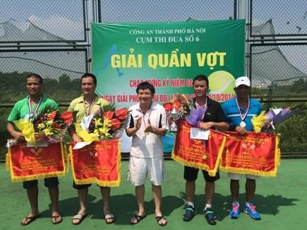 Sôi nổi giải quần vợt Cụm thi đua số 6 Công an Hà Nội ảnh 2