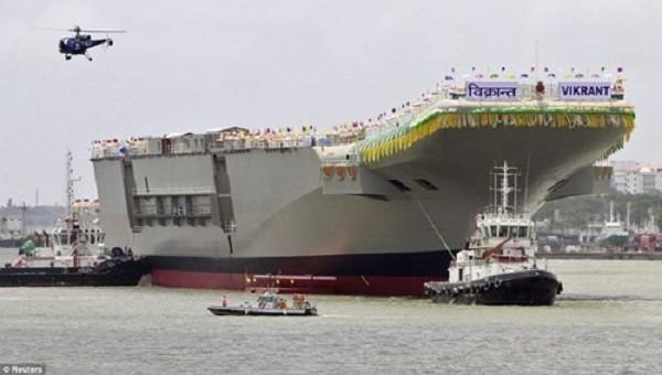 Ấn Độ chạy thử tàu sân bay tự đóng vào năm tới ảnh 1