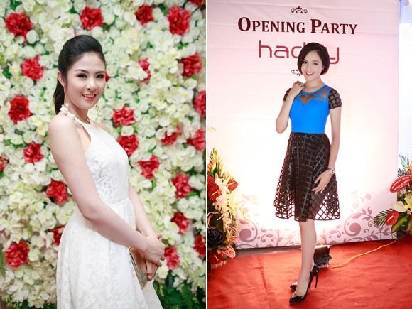 Hoa hậu Ngọc Hân cùng dàn mỹ nhân hội ngộ chúc mừng NTK Hà Duy ảnh 1