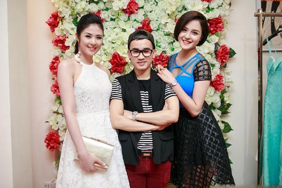 Hoa hậu Ngọc Hân cùng dàn mỹ nhân hội ngộ chúc mừng NTK Hà Duy ảnh 4