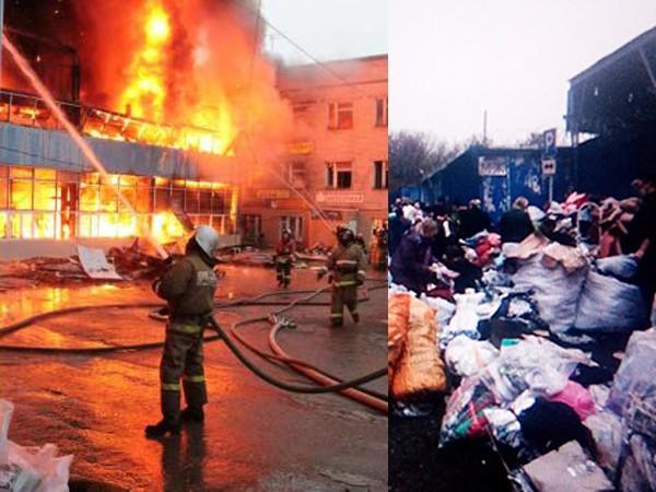 Hỏa hoạn thiêu trụi khu chợ người Việt ở Nga ảnh 1