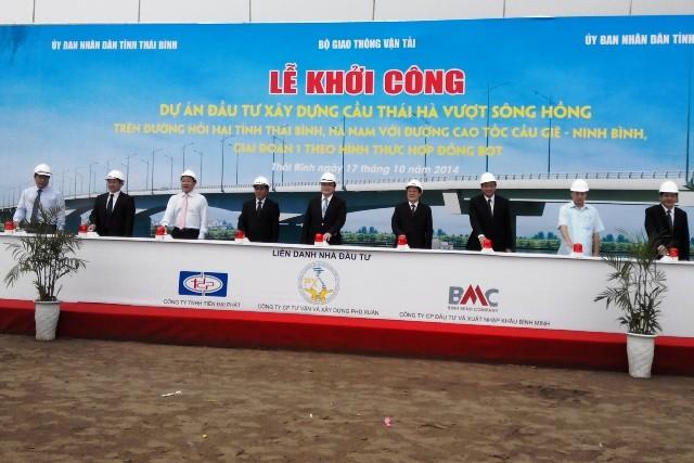 Xây cầu Thái Hà nối hai tỉnh Thái Bình và Hà Nam ảnh 1