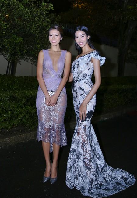 Hoa hậu Mai Phương Thúy hội ngộ siêu mẫu Hoàng Thùy và Minh Tú tại lãnh sự quán Anh ảnh 7