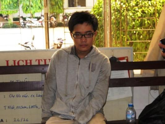 Trần Nhật Duy khi bị bắt giữ