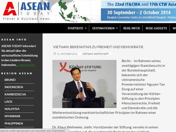 Báo chí châu Âu chú ý đến chuyến công du của Thủ tướng Nguyễn Tấn Dũng ảnh 1