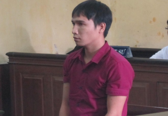 Bị cáo Hoàng Văn Chung tại tòa