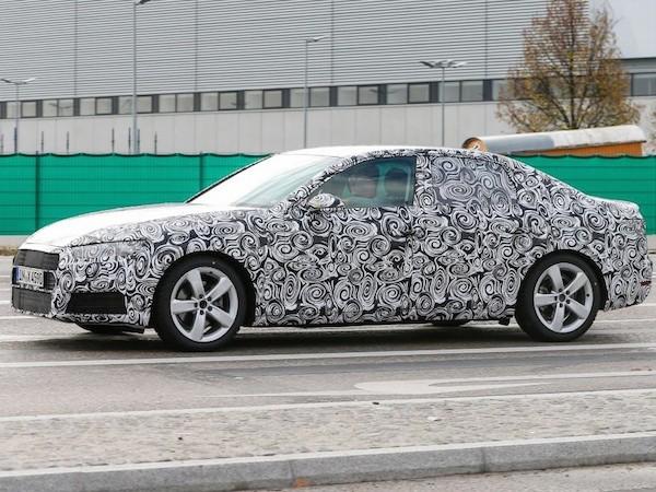 Audi A4 thế hệ mới lộ ảnh chạy thử, ra mắt chính thức vào năm 2015 ảnh 1