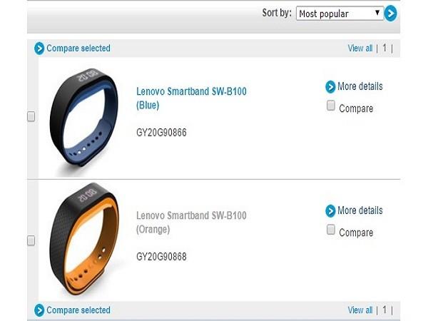 Vòng đeo tay theo dõi sức khỏe Smartband SW-B100 của Lenovo