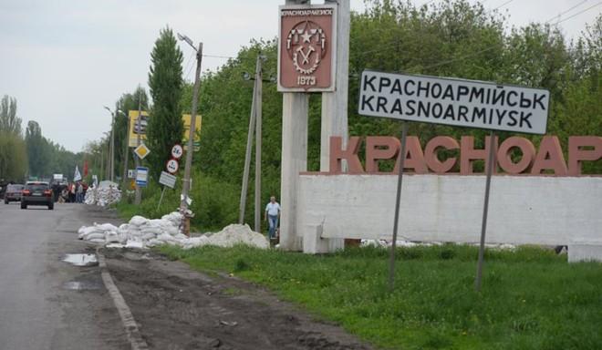 Khu vực tìm thấy 286 thi thể các nạn nhân, thành phố Krasnoarmeist