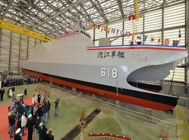 """""""Sát thủ diệt tàu sân bay"""" Tuo Jiang tại lễ hạ thủy hồi tháng 3"""