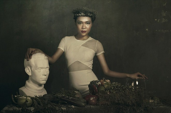 Giải vàng Ngôi sao người mẫu Thanh Trúc u buồn trong ngày Haloween