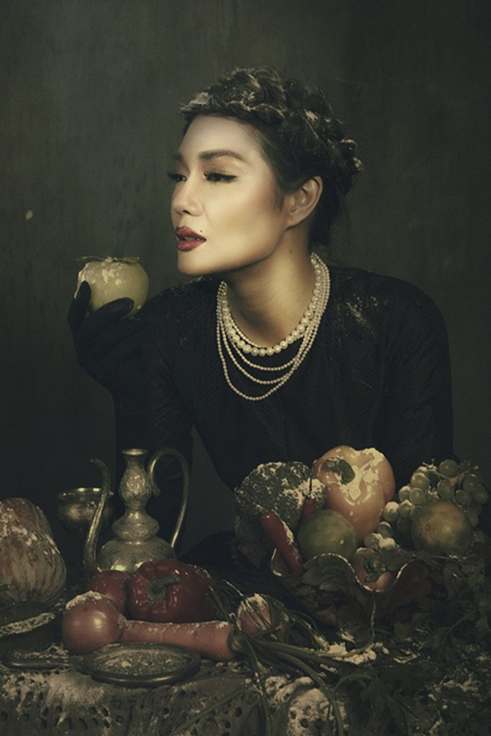 Giải vàng Ngôi sao người mẫu Thanh Trúc u buồn trong ngày Haloween ảnh 7