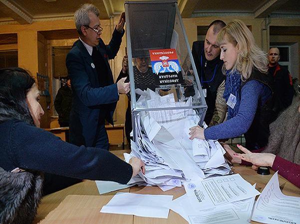 Kiểm phiếu tại Donetsk