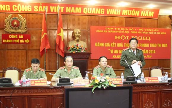 Thiếu tướng Lưu Quang Hợi phát biểu tại hội nghị