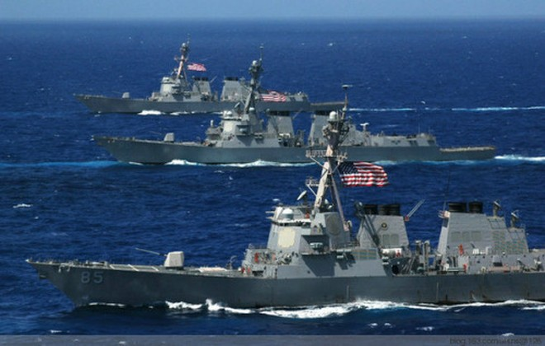 Biên đội tàu khu trục Arleigh Burke của Mỹ