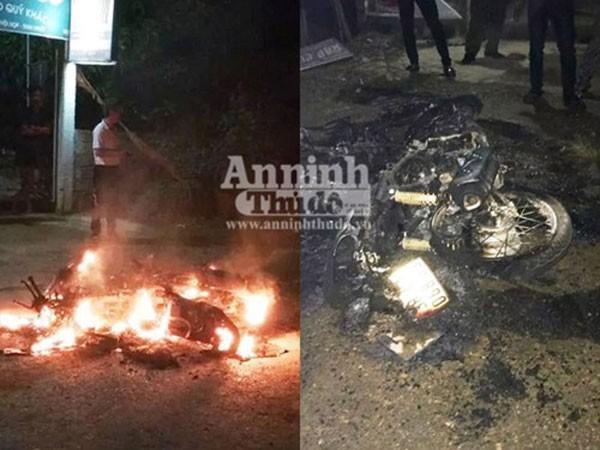 Vụ xe máy phát nổ bốc cháy, nạn nhân đã tử vong ảnh 1
