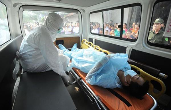 Hình ảnh buổi diễn tập tại Bệnh viện Nhiệt đới Trung ương (Hà Nội)