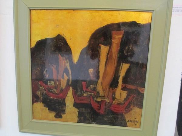 """Tác phẩm """"Đêm Hạ Long"""" của họa sĩ Ngô Thành Nhân - Ảnh: Trung Hiếu"""