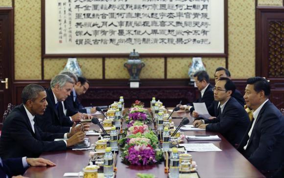 Tổng thống Obama đã gặp gỡ Chủ tịch Tập Cận Bình tại Hội nghị thượng đỉnh APEC