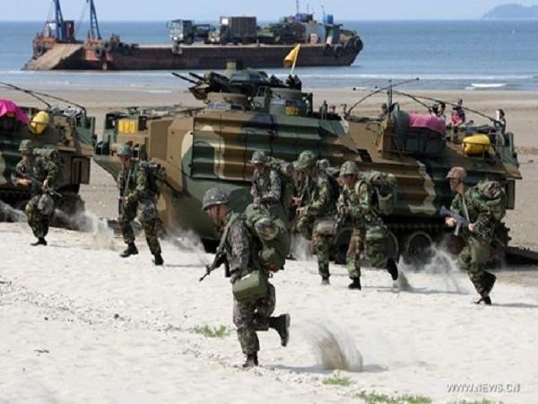 Hình ảnh một cuộc tập trận chung giữa Hàn Quốc và Mỹ