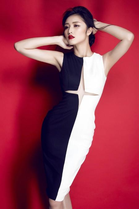 Hoa hậu Triệu Thị Hà gợi cảm với thời trang cut-out ảnh 4