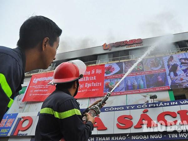 Lực lượng cứu hỏa dập tắt đám cháy ngay sau đó