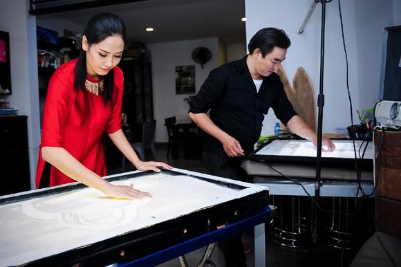 Nguyễn Thị Loan học vẽ tranh cát thi tài năng Miss world ảnh 5