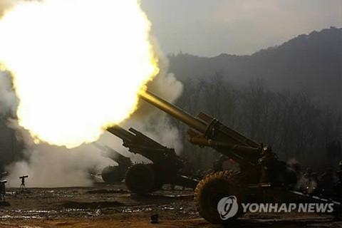 Pháo binh của liên quân Mỹ Hàn trong một cuộc tập trận chung