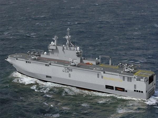 """Tàu đổ bộ trực thăng lớp """"Mistral"""" pháp đóng cho Nga"""