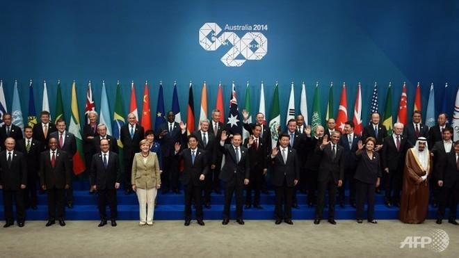 Các nhà lãnh đạo G20 chụp ảnh chung tại Brisbane, Australia