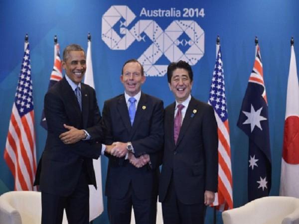 Lãnh đạo ba nước Mỹ-Nhật-Úc tại hội nghị G20