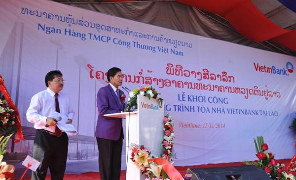Khởi công xây dựng tòa nhà Vietinbank tại Lào ảnh 2