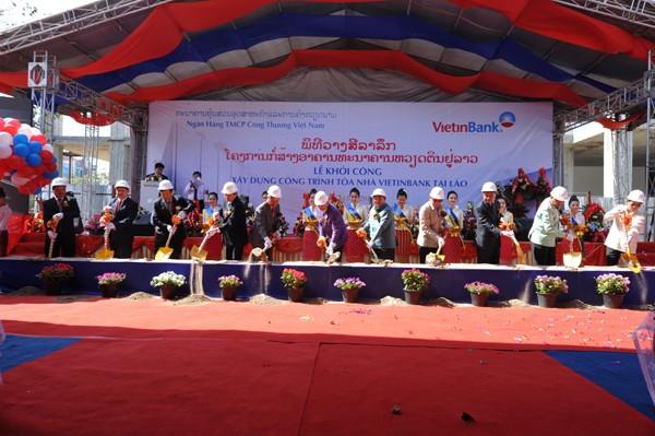 Khởi công xây dựng tòa nhà Vietinbank tại Lào ảnh 1