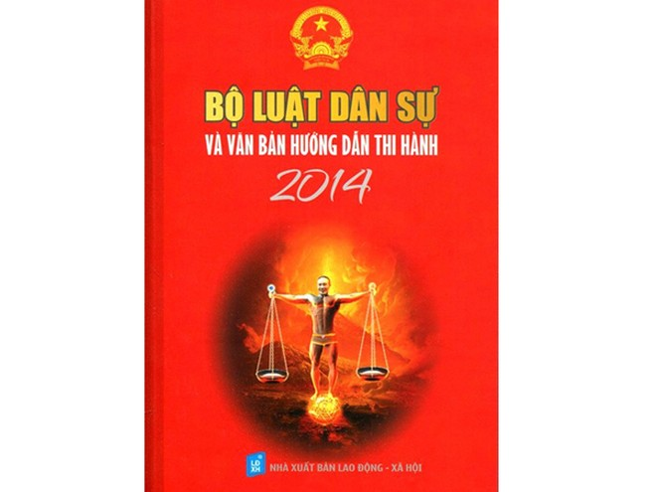 """Bìa cuốn sách """"Bộ luật dân sự và văn bản hướng dẫn thi hành 2014"""" in hình ảnh """"thiếu vải"""" và ghép mặt của nghệ sĩ Công Lý"""