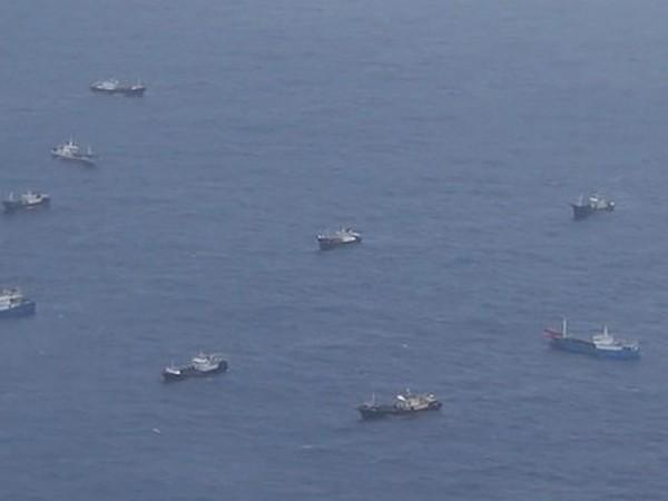 Hàng chục tàu cá Trung Quốc xuất hiện trong vùng biển Nhật Bản
