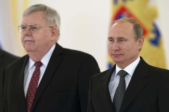 Tổng thống Putin và tân đại sứ Mỹ ông John Tefft