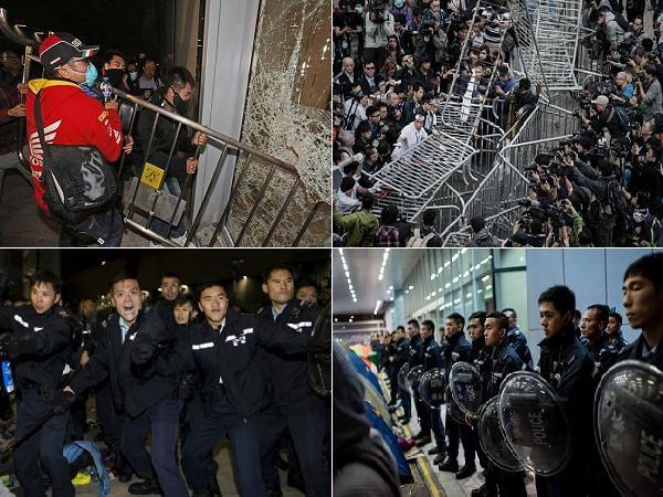 Đụng độ lớn đã xảy ra ở trung tâm Hồng Kông