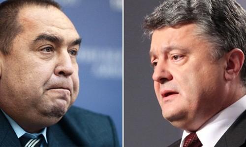 Lãnh đạo lực lượng ly khai (trái) và Tổng thống Ukraine (phải)