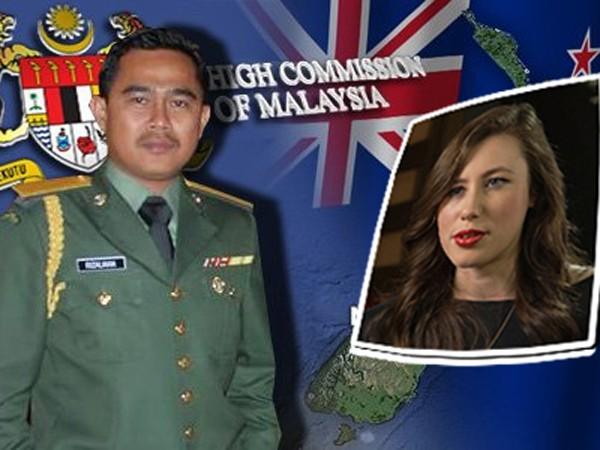 Nhân viên ngoại giao Muhammad Rizalman Ismail và cô Tania Billingsley