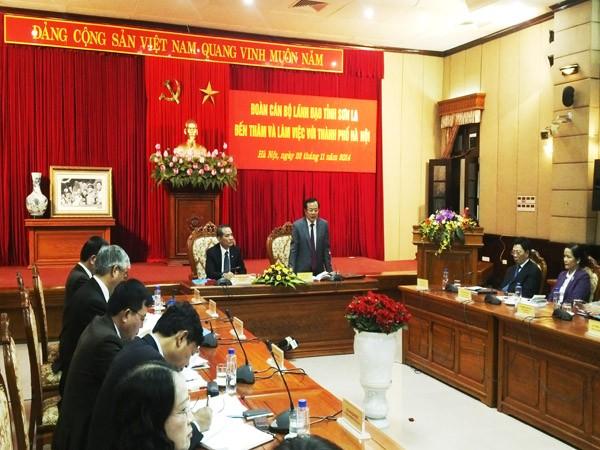 Còn nhiều tiềm năng để TP Hà Nội và tỉnh Sơn La hợp tác phát triển