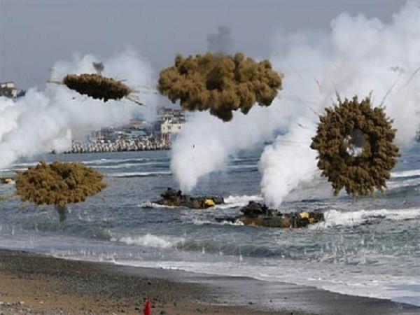 Quân đội Hàn Quốc trong một cuộc tập trận