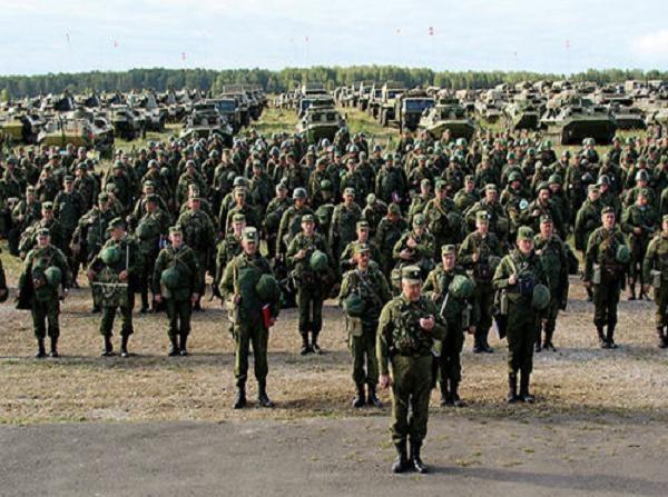Hình ảnh quân đội Nga trong một cuộc diễn tập
