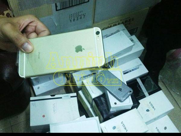 Phát hiện lô hàng điện thoại nhập lậu, nhiều Iphone 6