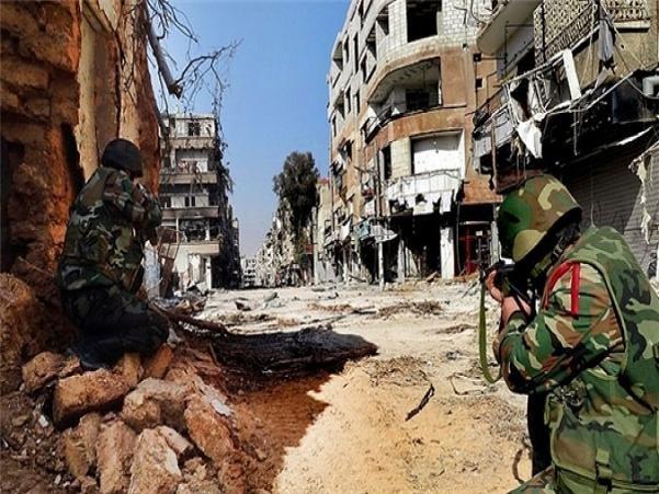 Binh lính chính phủ Syria tấn công vào một thị trấn ở khu vực miền đông Ghouta
