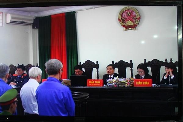HĐXX phúc thẩm vụ án Nguyễn Đức Kiên gồm 3 thẩm phán và 1 thẩm phán dự khuyết