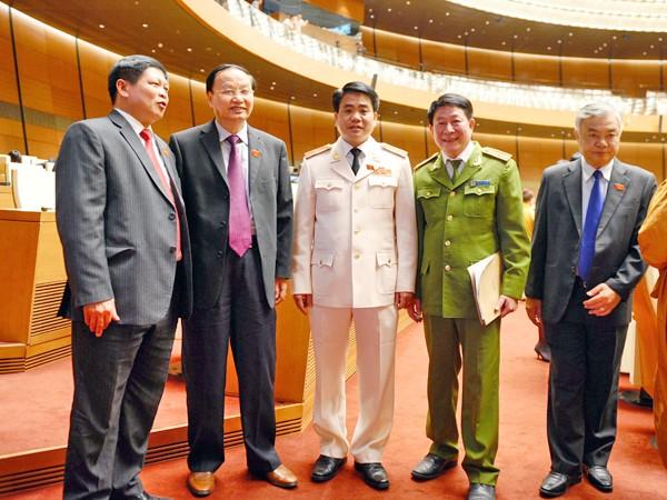 Các đại biểu Quốc hội tại phiên bế mạc