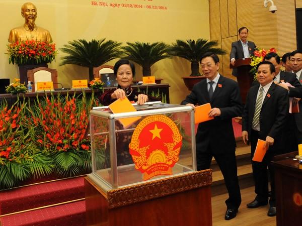 Hà Nội hoàn thành lấy phiếu tín nhiệm 15 chức danh ảnh 1