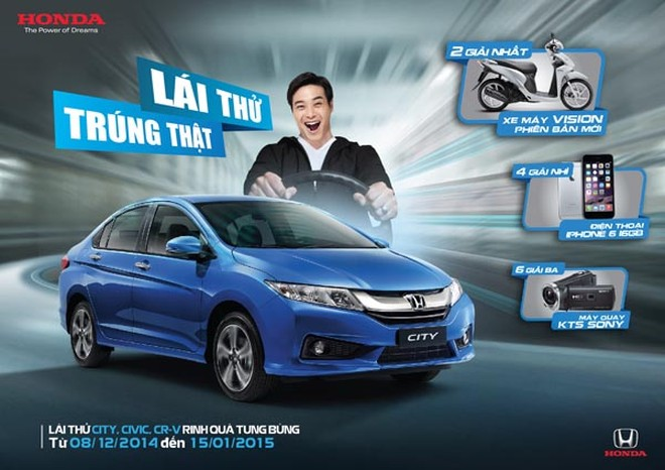 """Poster chương trình """"Lái thử trúng thật"""" của Honda Việt Nam"""