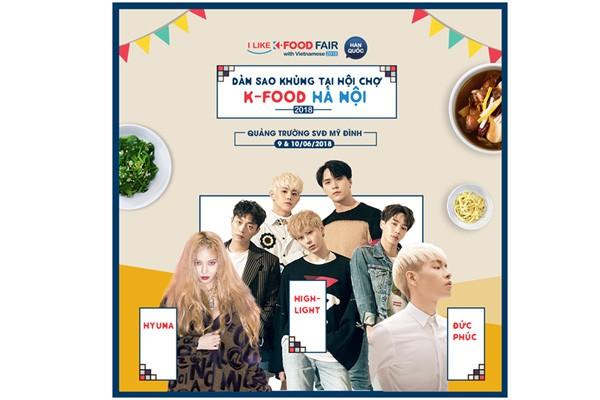 Khám phá lễ hội ẩm thực K-food 2018 và giao lưu với người hùng của bóng đá Việt Nam Park Hang-seo
